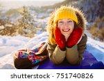 portrait of playful hipster... | Shutterstock . vector #751740826