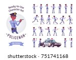policeman ready to use...   Shutterstock .eps vector #751741168