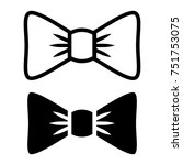 illustration icon bow tie on a... | Shutterstock . vector #751753075