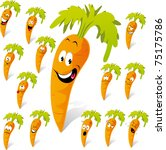 carrot cartoon with many... | Shutterstock .eps vector #75175786