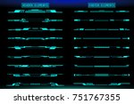 hud futuristic header and... | Shutterstock .eps vector #751767355