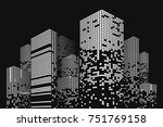 building and city illustration. ... | Shutterstock .eps vector #751769158