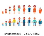 set of characters in a flat... | Shutterstock .eps vector #751777552