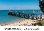landing stage of la plage des... | Shutterstock . vector #751779628