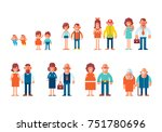 people generations in a flat... | Shutterstock .eps vector #751780696