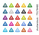 25 web 2.0 buttons with...   Shutterstock .eps vector #75178480