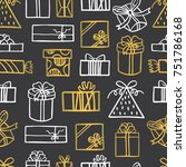 seamless vector pattern with... | Shutterstock .eps vector #751786168
