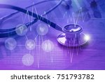 medical examination and... | Shutterstock . vector #751793782