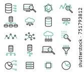 simple set of big data ... | Shutterstock .eps vector #751793812