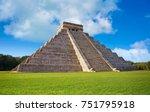 chichen itza pyramid el templo...   Shutterstock . vector #751795918