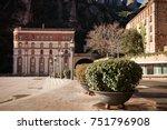 santa maria de montserrat is a... | Shutterstock . vector #751796908