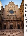 santa maria de montserrat is a... | Shutterstock . vector #751796932