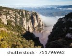 santa maria de montserrat is a... | Shutterstock . vector #751796962