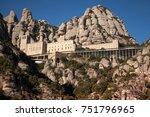 santa maria de montserrat is a... | Shutterstock . vector #751796965