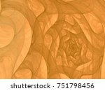monochrome abstract fractal... | Shutterstock . vector #751798456