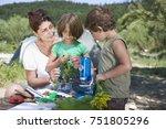 teacher and pupils | Shutterstock . vector #751805296