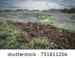 abandoned industrial land in... | Shutterstock . vector #751811206