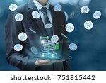 discounts in the online store.... | Shutterstock . vector #751815442