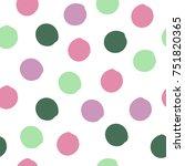 Colorful Cute Grunge Polka Dot...