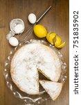 lemon cake | Shutterstock . vector #751835902