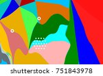 colorful abstract background... | Shutterstock .eps vector #751843978
