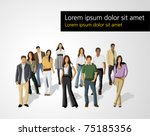 template of a group of business ... | Shutterstock .eps vector #75185356