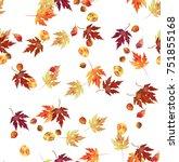 Leaves Autumn Pattern Seamless...