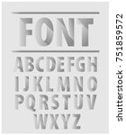 3d font inside the wall. vector ... | Shutterstock .eps vector #751859572