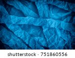 torn and crumpled blue paper... | Shutterstock . vector #751860556