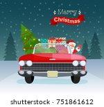 merry christmas stylized... | Shutterstock .eps vector #751861612