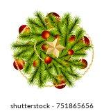 top view realistic merry... | Shutterstock .eps vector #751865656