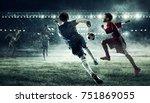 children play soccer. mixed...   Shutterstock . vector #751869055