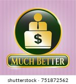 gold shiny badge with... | Shutterstock .eps vector #751872562