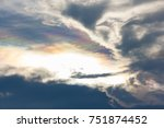 Rainbow Colors Within Clouds O...