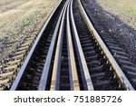 several rails lie on the...   Shutterstock . vector #751885726