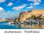 kyrenia castle and historic...   Shutterstock . vector #751892662