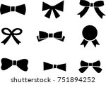 bow icons collection black... | Shutterstock .eps vector #751894252