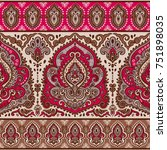 indian floral paisley seamless... | Shutterstock .eps vector #751898035