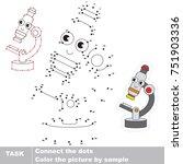 funny microscope. dot to dot... | Shutterstock .eps vector #751903336
