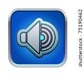 illustration of blue speaker...