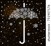 winter background with umbrella | Shutterstock .eps vector #751907176