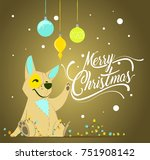 merry christmas greeting card... | Shutterstock .eps vector #751908142