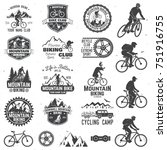 set of mountain biking clubs... | Shutterstock .eps vector #751916755