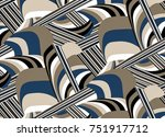 geometric pattern..for textile  ... | Shutterstock . vector #751917712