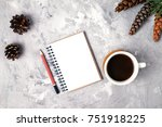new year's composition with... | Shutterstock . vector #751918225