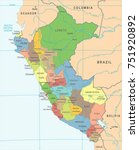 peru map   high detailed vector ... | Shutterstock .eps vector #751920892