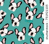 vector seamless pattern with... | Shutterstock .eps vector #751921105