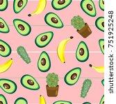 healthy food. avocado print.... | Shutterstock .eps vector #751925248