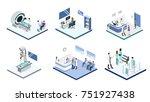 isometric 3d illustration set...   Shutterstock . vector #751927438