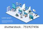 isometric 3d illustration... | Shutterstock . vector #751927456